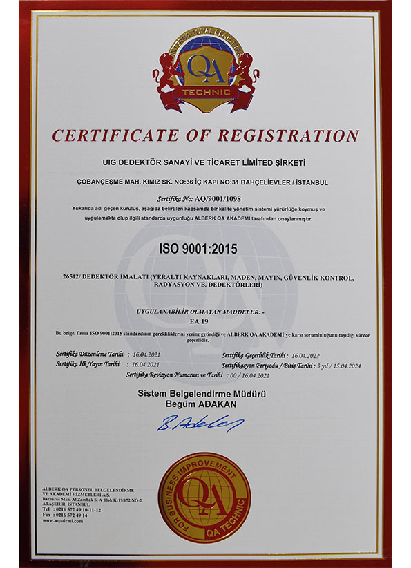 International ISO 9001 <br>Certification