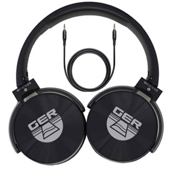Headphone supports cable and Bluetooth technology (rechargeable).
