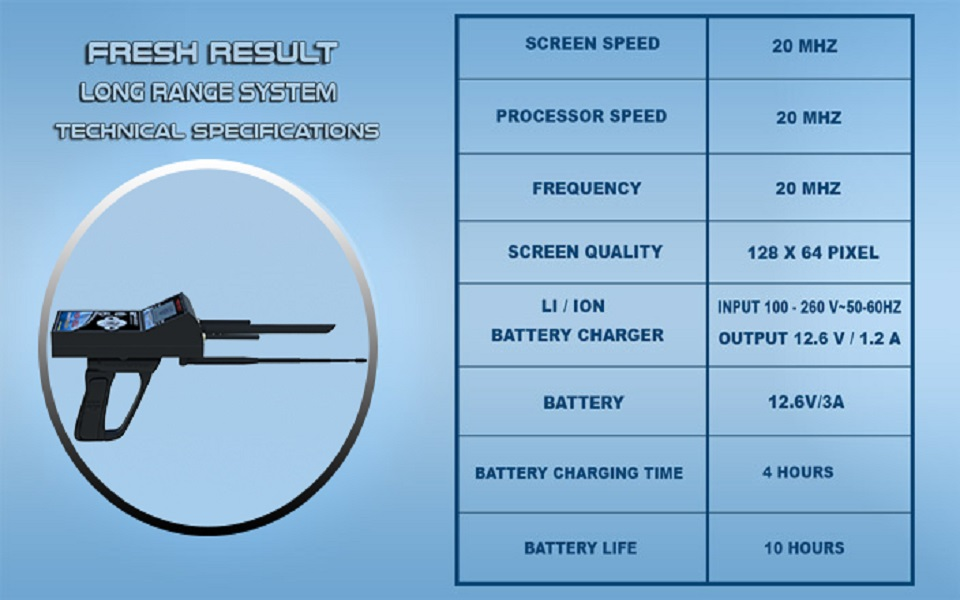 FRESH RESULT 1 system TECHNICAL SPECIFICATIONS