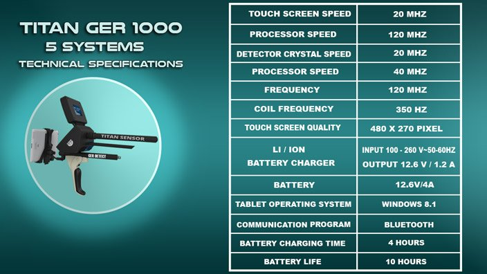 TECHNICAL SPECIFICATIONS TITAN GER 1000