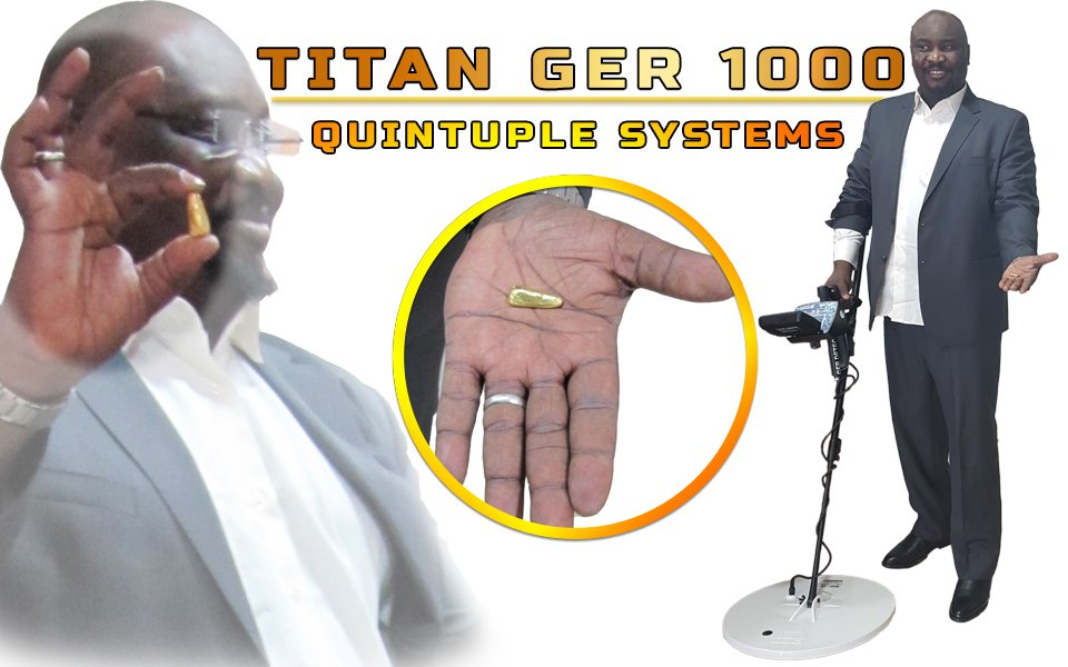 one of our customer find gold by titan ger 1000