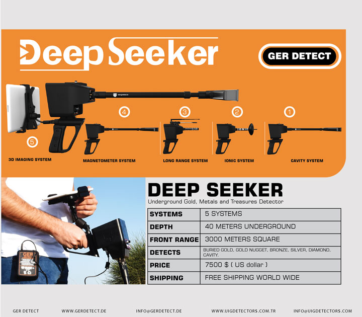 Brochure for DEEP SEEKER device
