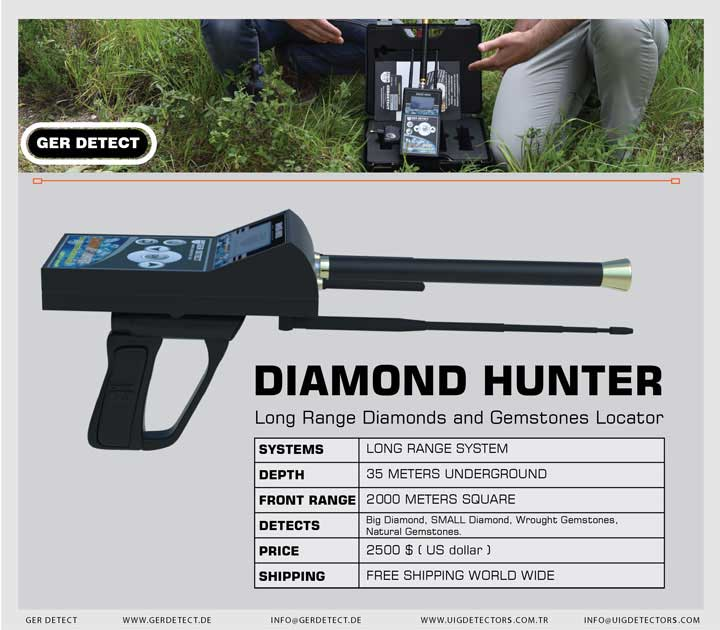 Folleto para el dispositivo DIAMOND HUNTER.