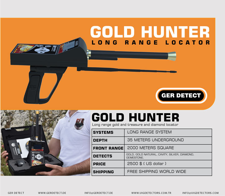 Brochure for GOLD HUNTER device
