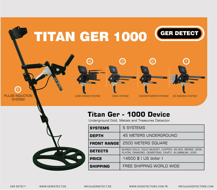 Folleto para el dispositivo TITAN GER - 1000