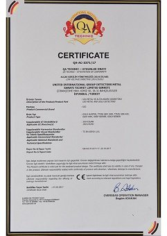 certificate of authorization gold and metal detectors