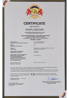 certificate of authorization water detectors
